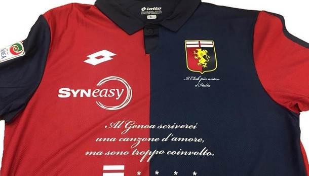 Genoa: frase De André per nuovo sponsor