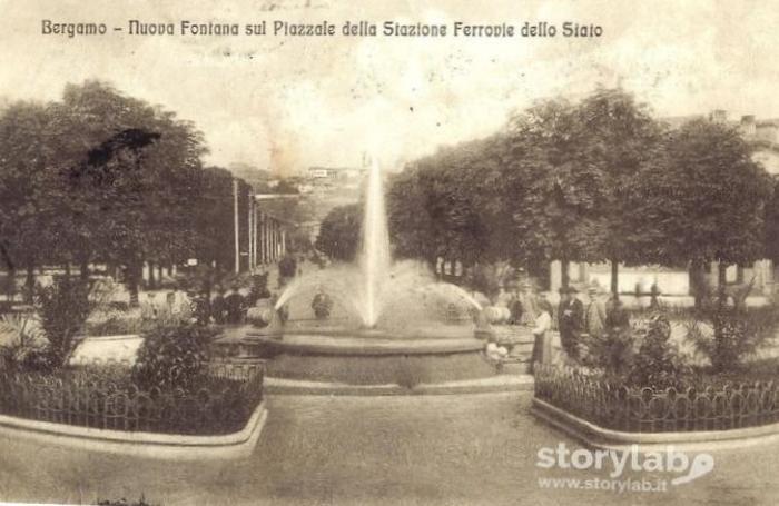 La fontana nel 1918