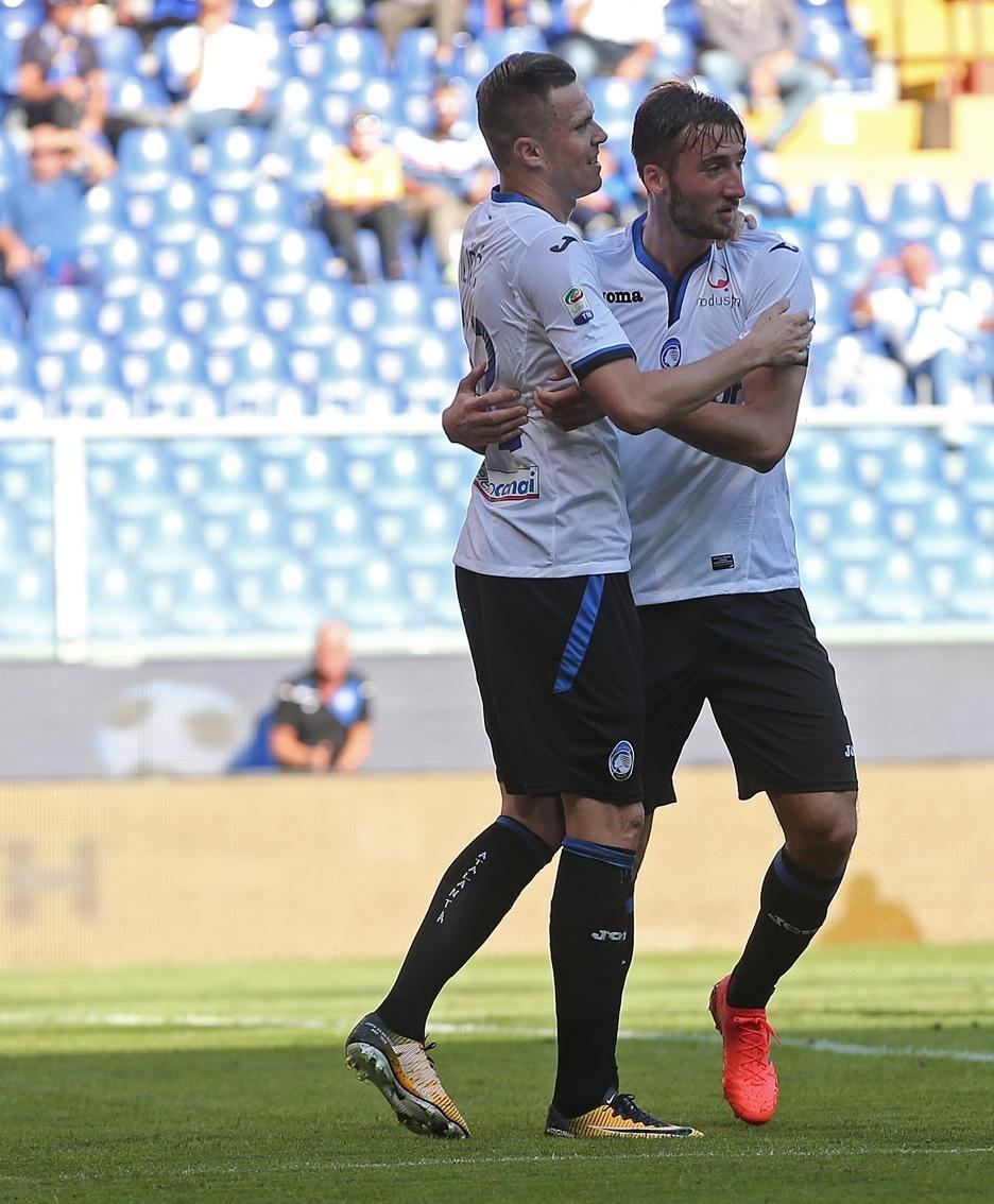 Serie A TIM 2017-18 giornata 8 sampdoria - atalanta gol cristante bryan 0-1