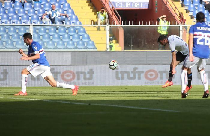 Serie A TIM 2017-18 giornata 8 sampdoria - atalanta occasione cristante bryan