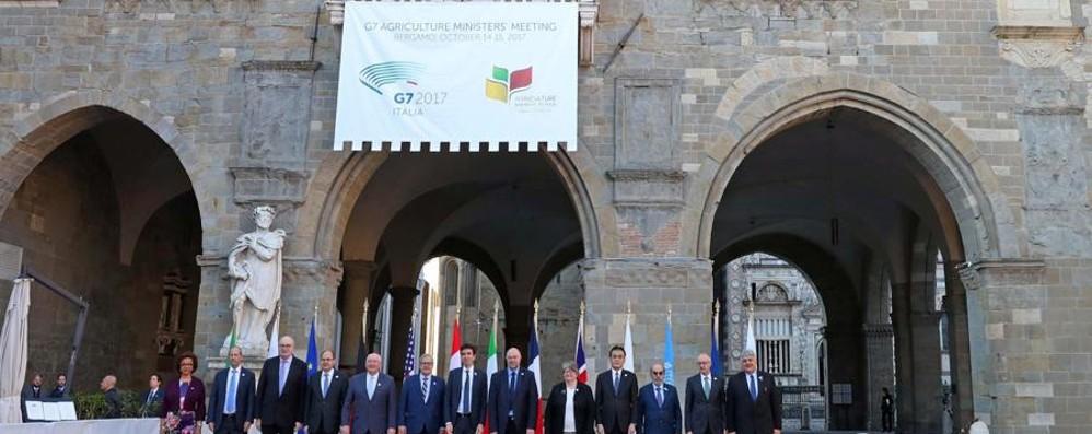 Cooperazione e stop a sprechi alimentari G7,Carta di Bergamo firmata all'unanimità