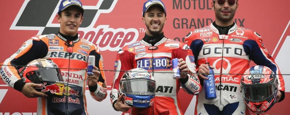MotoGp: Dovizioso trionfa in Giappone Valentino Rossi si ritira per una caduta