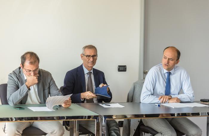 Da sinistra, Tommaso Minola, Lucio Cassia e Sergio Cavalieri