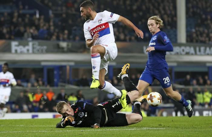 Una fase di Everton-Lione