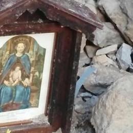 Recuperata l'effige della Madonna Era sotto la frana a Taleggio: è intatta