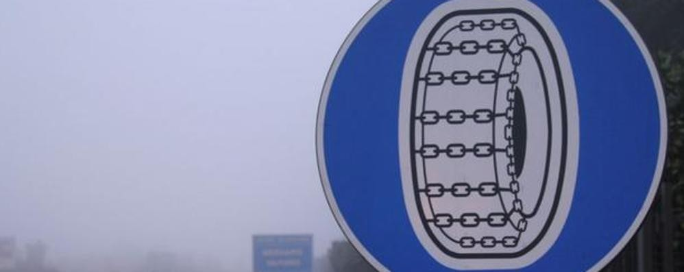 Dal 1° novembre catene a bordo In provincia da Grassobbio a Zanica