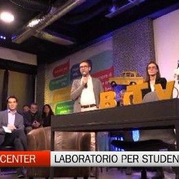 Media Center, taglio del nastro del laboratorio per gli studenti