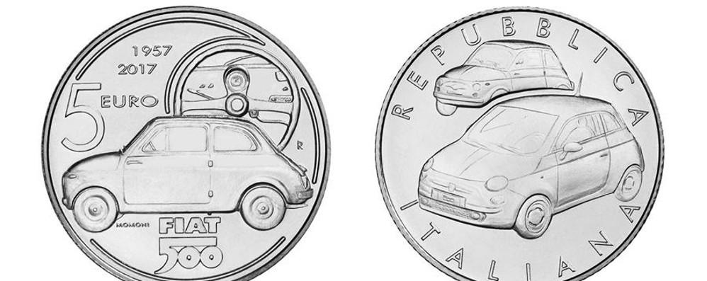 Emessa la moneta d'argento  che celebra la storia di Fiat 500