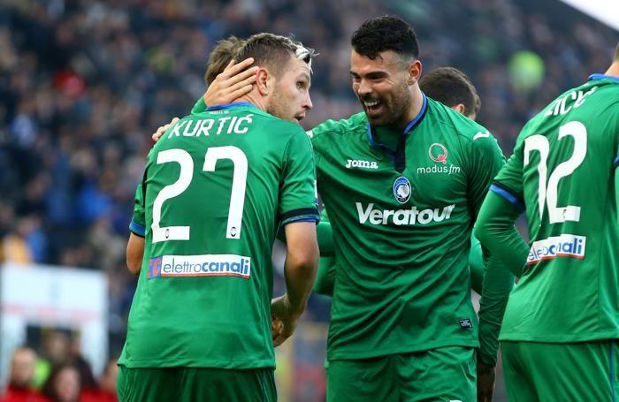 Serie A TIM 2017-18 giornata 11 udinese - atalanta gol kurtic jasmin 0-1 ed esultanza