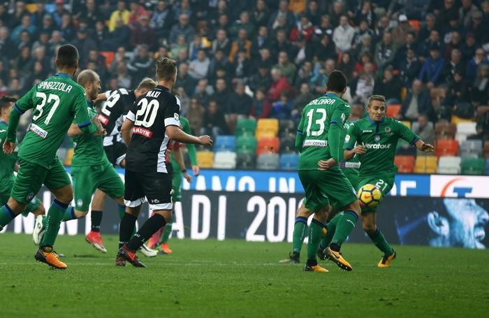 Serie A TIM 2017-18 giornata 11 udinese - atalanta gol udinese 2-1