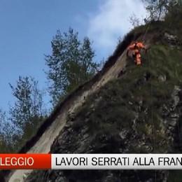 Frana in Val Taleggio, iniziati i lavori   Venerdì esploderanno le mine