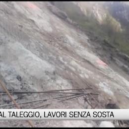 Frana Val Taleggio, lavori senza sosta