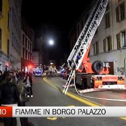 Bergamo- Fiamme in Borgo Palazzo
