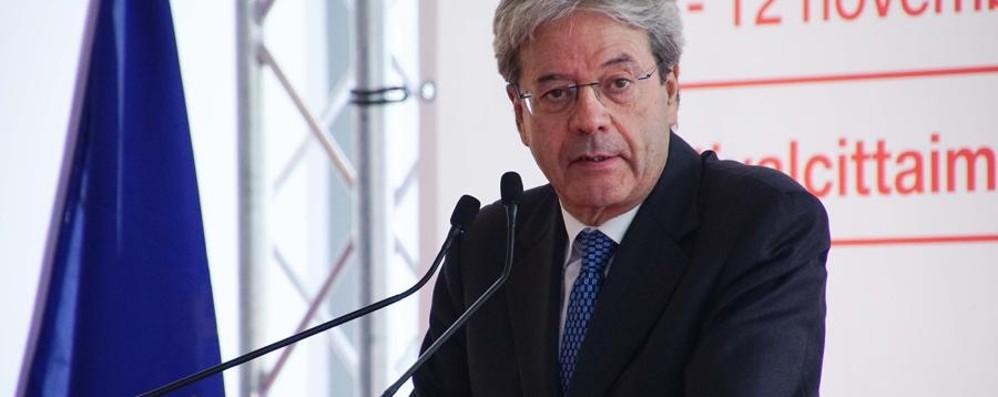 Il premier Gentiloni a Bergamo «Autonomia? Richiesta sacrosanta»