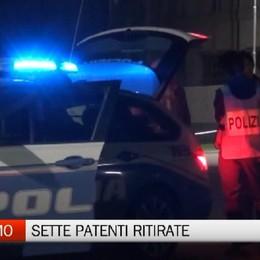 Bergamo, notte di controlli della Polizia Stradale