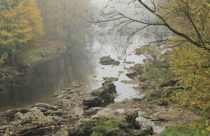 Nebbia sul fiume Serio nello scatto della nostra lettrice Emilia