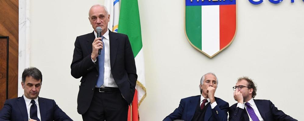 Atalanta a Roma, si parla dell'Italia Malagò: se fossi Tavecchio mi dimetterei