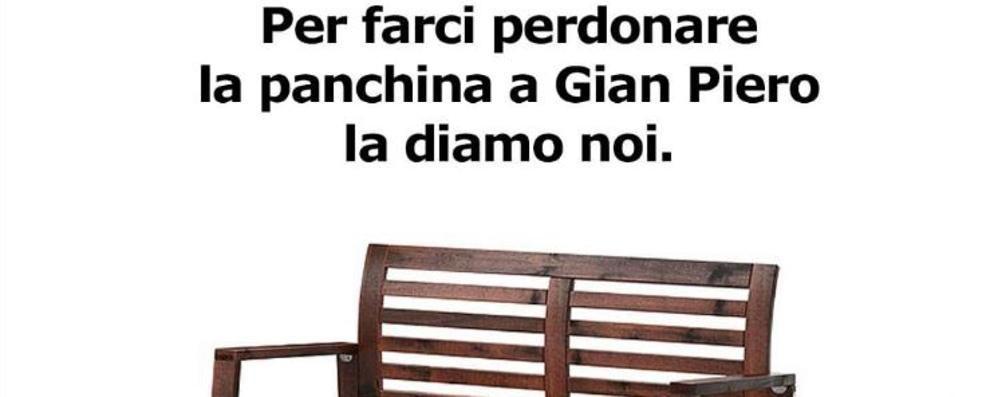 Ikea ironizza: «Per farci perdonare la panchina a Gian Piero la diamo noi»