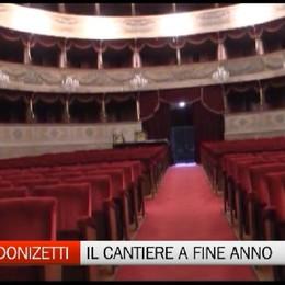Lavori in corso al Teatro Donizetti,  A fine anno parte il cantiere