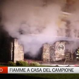 Ardesio, fiamme a casa Nicoli  Paura per il campione di enduro