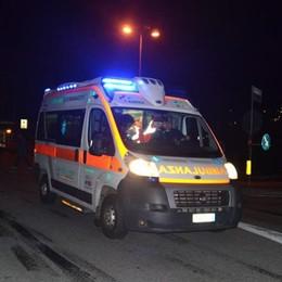 Incidente tra auto e camion a Sedrina Un uomo ferito, traffico bloccato