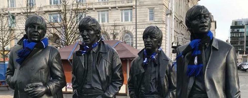Liverpool, è qui la festa atalantina - Foto E i Beatles si scoprono tifosi nerazzurri