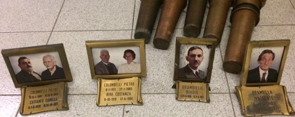 Cisano, raid al cimitero di Villasola Poi i ladri «riportano» foto e vasi