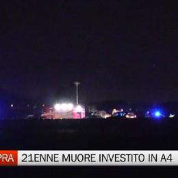 Investito in autostrada, muore 21enne a Osio Sopra