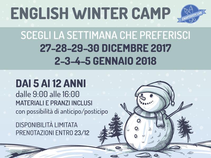 ENGLISH WINTER CAMP - CRAFTIVITY LAB