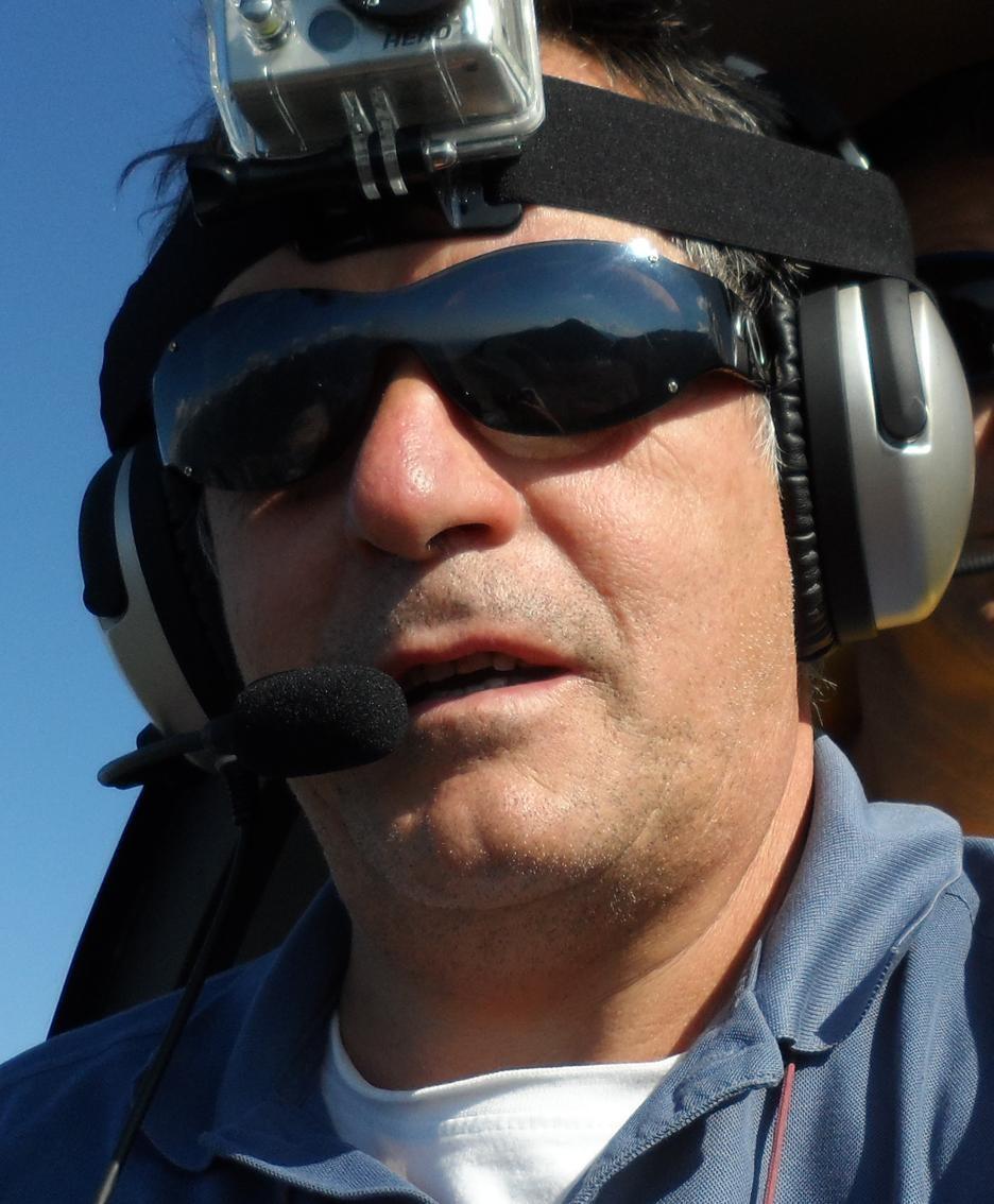 il pilota di elicottero Giovanni Masserini