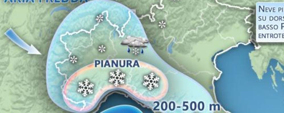 Meteo in Bergamasca: neve sì o neve no? Codice giallo in Lombardia – Le previsioni