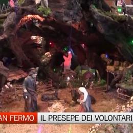 Berzo San Fermo, il presepe dei volontari