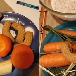 S.Lucia, non solo fieno e carote... -Foto Regali per l'asinello  «originali»  e social