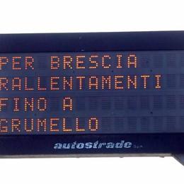Incidente in A4 in direzione Brescia Code risolte tra Seriate e Grumello