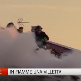 Cenate Sotto - Incendio distrugge una villetta