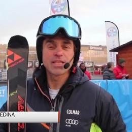 Sci alpino, l'ex campione Kristian Ghedina sulla pista di Orio