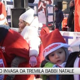Babbo Running a Bergamo  l'Invasione di 3.000 Babbi Natale
