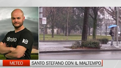 Meteo - Per Santo Stefano in arrivo la pioggia