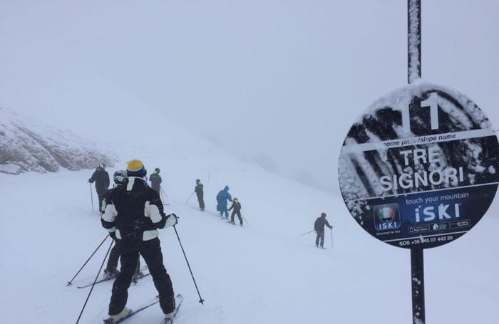 Si scia e nevica ai Piani di Bobbio