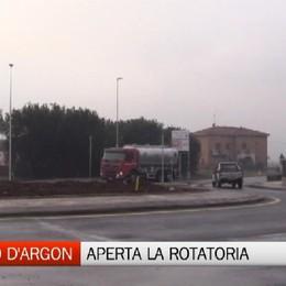 San Paolo d'Argon: aperta la rotatoria al Portico