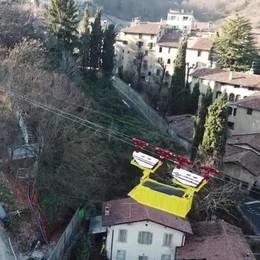 Il parcheggio di via Fara Ecco la teleferica in azione