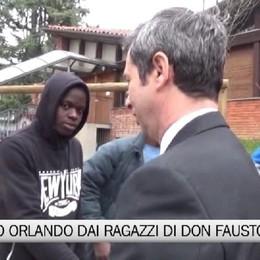 Il Ministro Orlando dai ragazzi di don Fausto