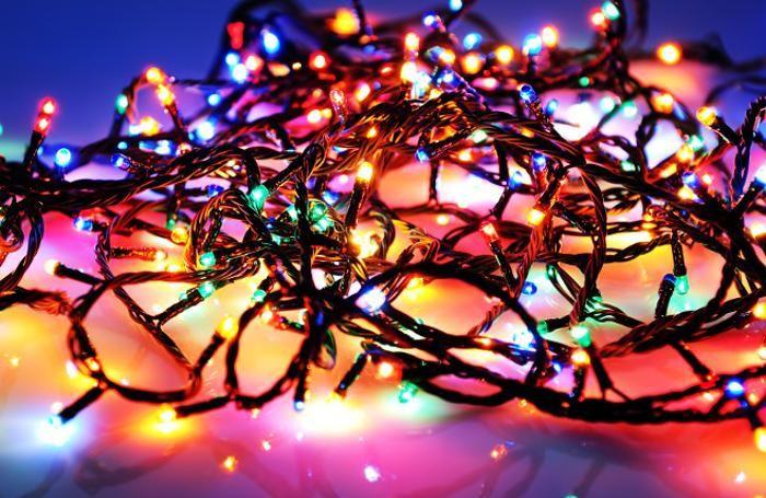 Ghirlanda di luci per gli interni cotone lampadine a led