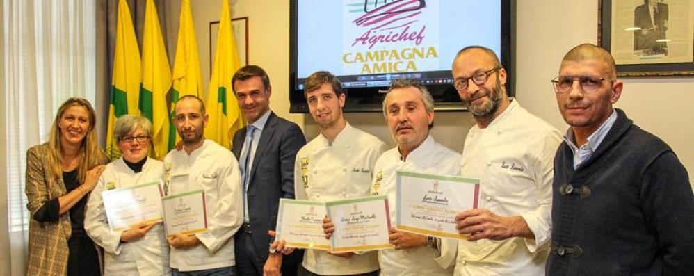 Premiati i primi «agrichef» bergamaschi «Promotori del territorio del cibo tipico»