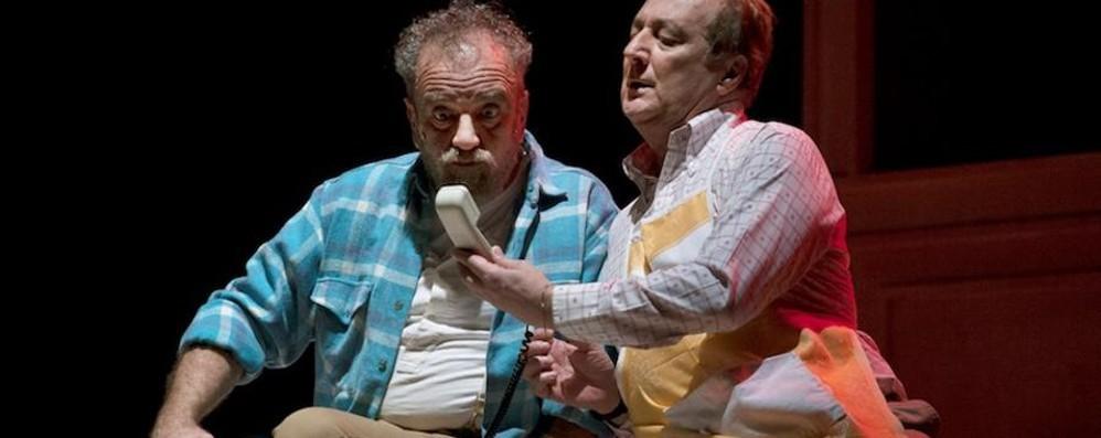 Giobbe e Enzo, una coppia tutta da ridere Al Creberg Teatro «Matti da slegare»»
