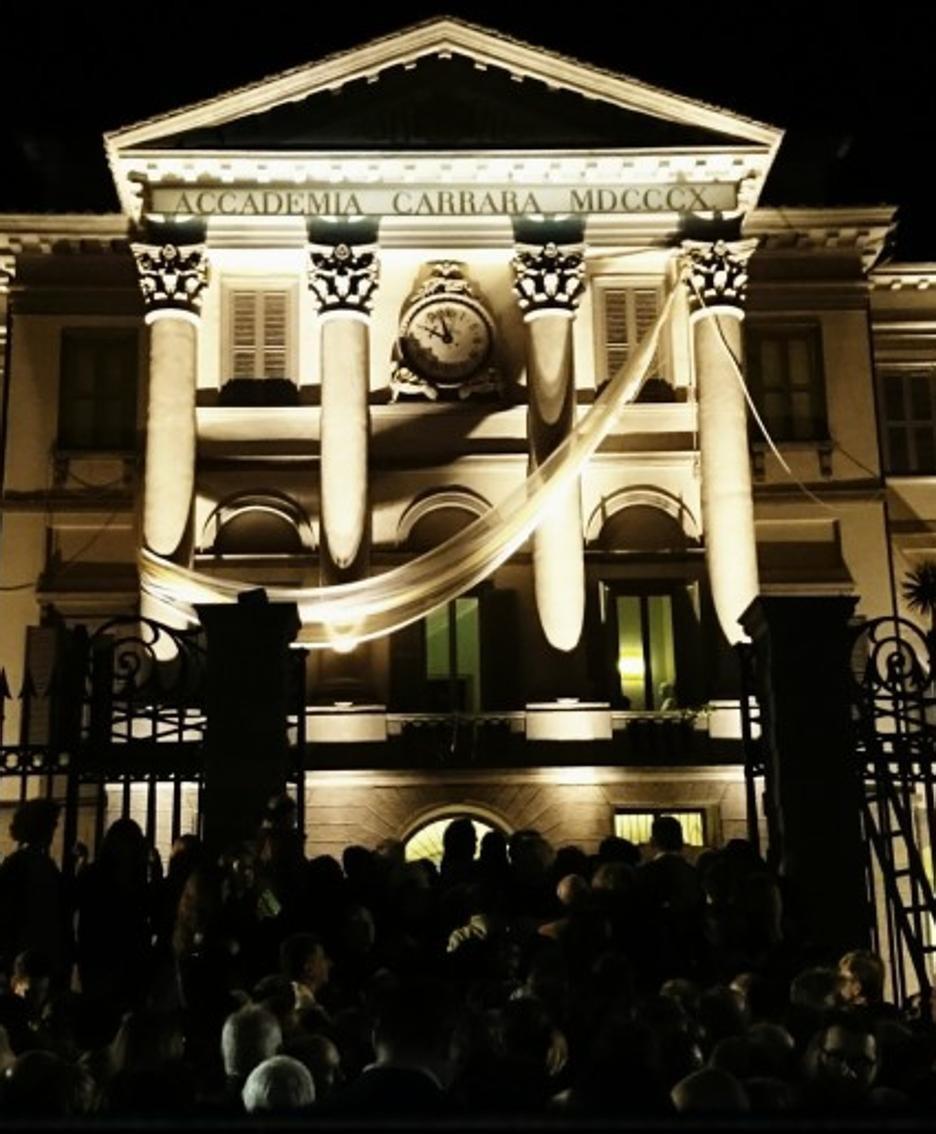 Accademia Carrara di Bergamo di Notte