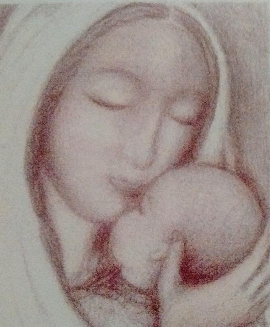 Uno dei dipinti di Cecilia Mangili