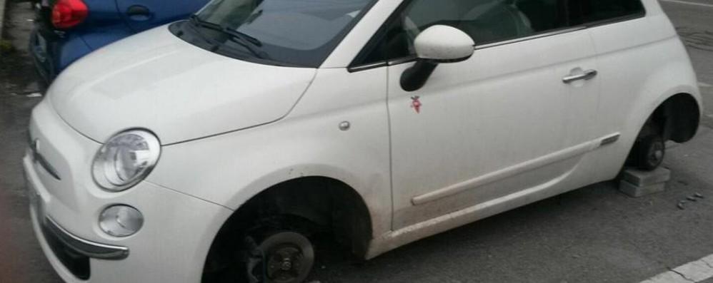 Ladri di ruote ad Albino  Colpita una 500 a Bondo Petello