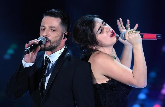 Italian singers Nesli and Alice Paba (R) perform on stage during the 67th Festival of the Italian Song of Sanremo at the Ariston theater in Sanremo, Italy, 09 February 2017. The 67th edition of the television song contest runs from 07 to 11 February. ANSA/CLAUDIO ONORATI