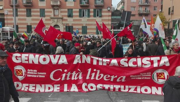 Ultradestra Genova, centinaia a presidio